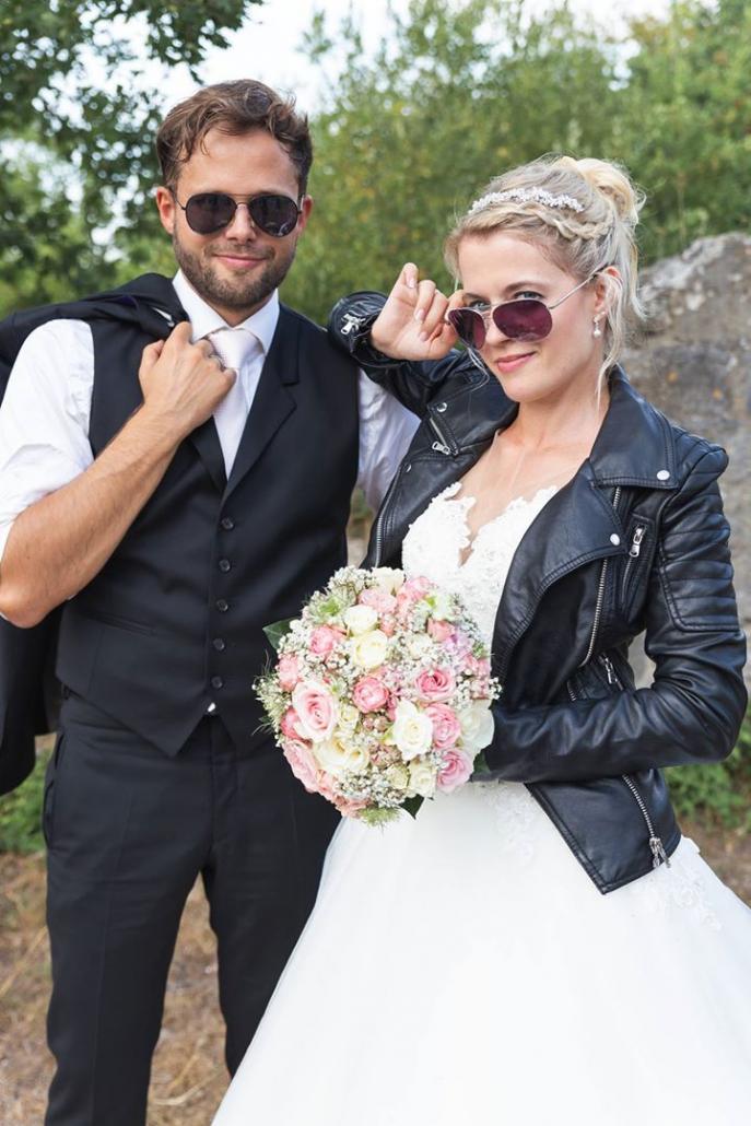 rockiges Brautpaar