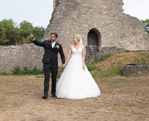 Hochzeitspaar Bild Ruine